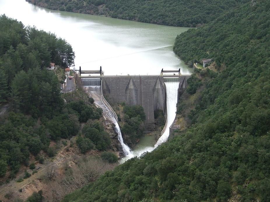 Ladonas dam in Peloponnese Greece.