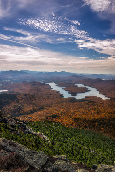 Looking Down On Lake Placid