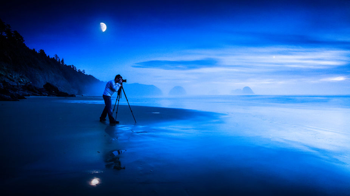 Cannon Beach, Oregon Coast by ChristopherLH - Moonlight Photo Contest