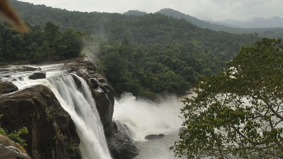 The Athirappilly Falls is situated 1000 ft above sea level on the Chalakudy river, at the entranc...