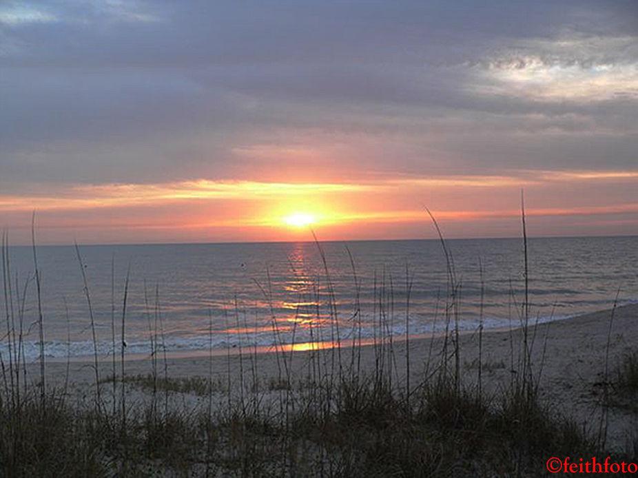 Sunrise on a cold day in Fernandina Beach, FL