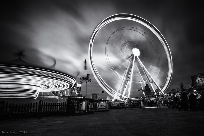 Winter Wonderland, Hyde Park, London by gabornagy - Epic Black and White Photo Contest