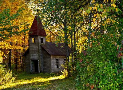 Nestled In The Woods Estonian Church