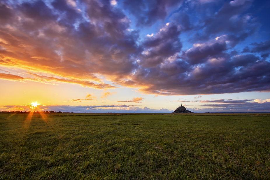 Mont Saint Michel, Normandie.