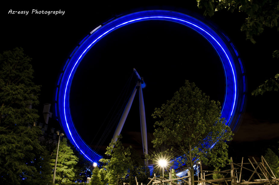 The spinning London Eye.