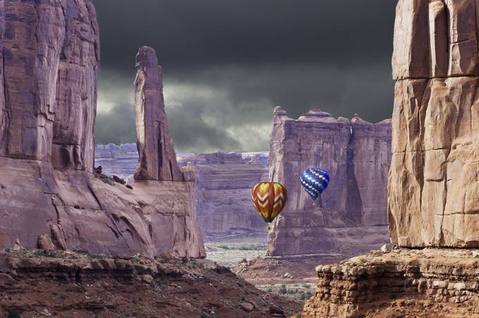 Arches&Balloons by allanrowe - Show Balloons Photo Contest