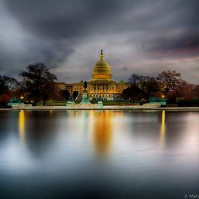 HDR composition of the US Capital just before sunrise.
