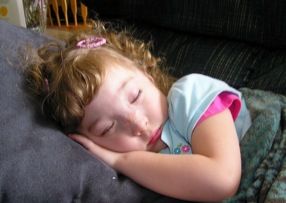 A child napping.