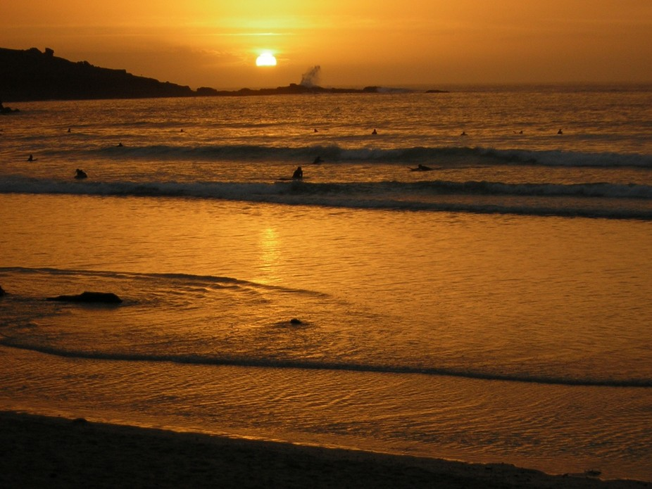 Sunset from Porthmeor Beach, St. Ives, Cornwall