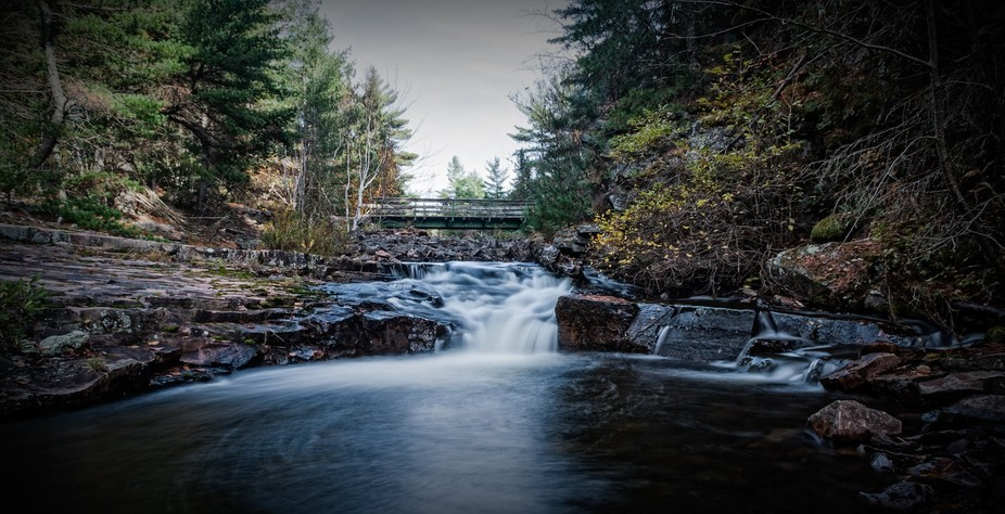 A little stream off of Highway 108 in Elliot Lake Ontario.