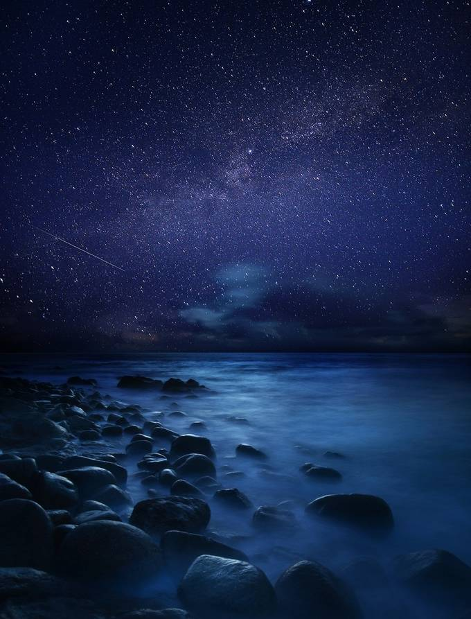 Starry Night in Cornwall by MattDL - Nature In HDR Photo Contest