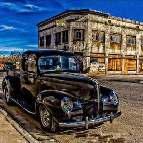 Restored Antique Ford Truck in Miami Arizona, a town that is trying to restore itself.