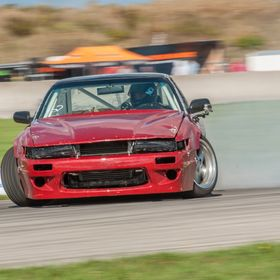 My friend Marin Guilbault drifting at CSCS in his Rocket Bunny Nissan 240sx.