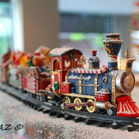 Train at work couldnt resist taking a shot with the icing sugar all over it so cute!