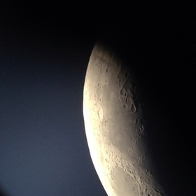 Exploring the moon a bit closer. October 8, 2013. Photo taken with iPhone, 8