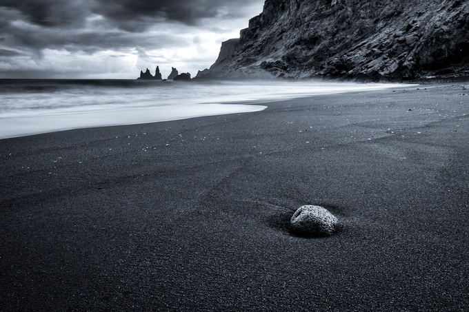 Rock on Black Beach by stuarthowarth - The Zen Moment Photo Contest