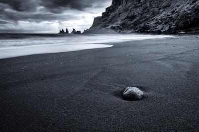 Rock on Black Beach
