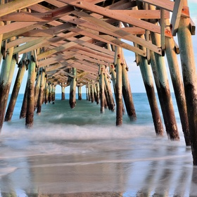 Another view from under the pier.