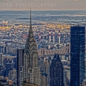 New York City Skyline capturing both iconic and historic buildings and landmarks.