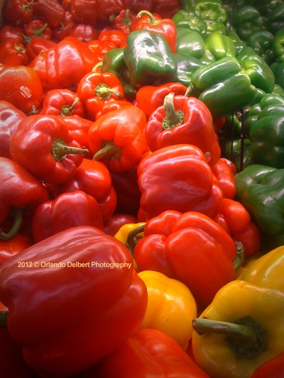 Fresh Locally-Grown Peppers