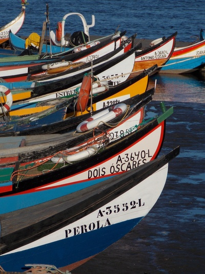 Fishing boats on the river, Torreira, Portugal
