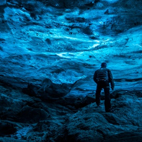 Self Portrait in Iceland Cave