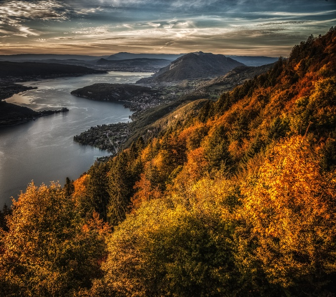 Fall in the Alpes by MargaretN - Nature In HDR Photo Contest