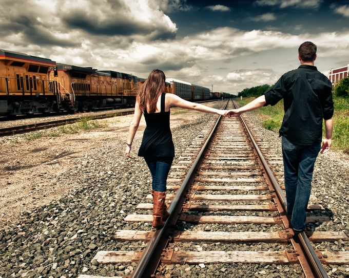 On the Tracks by mattsouthard1 - Romantic Photo Contest