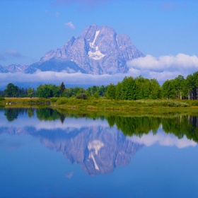 Grand Teton National Park is located in NW Wyoming just south of Yellowstone National Park. The Tetons are a prime example of fault-block mountai...