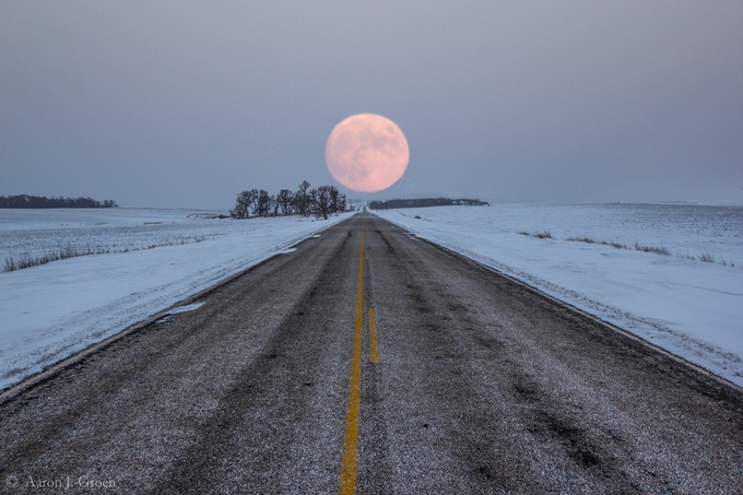 Highway to the Moon by aaronjgroen - The Moonlight Photo Contest