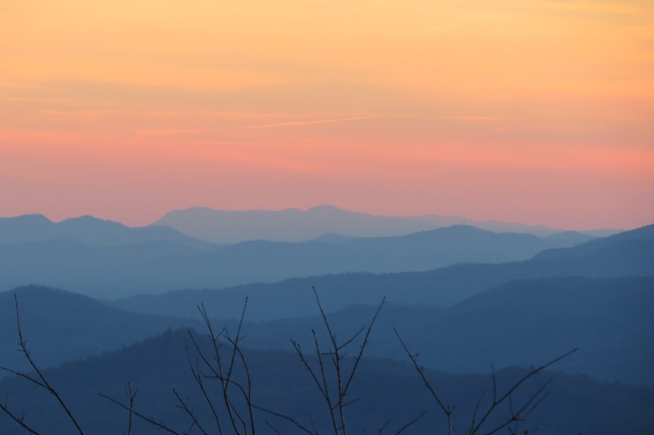 Christmas Day Sunset Blowing Rock
