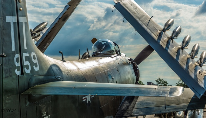 Skyraider by TedCobbett - Clever Angles Photo Contest