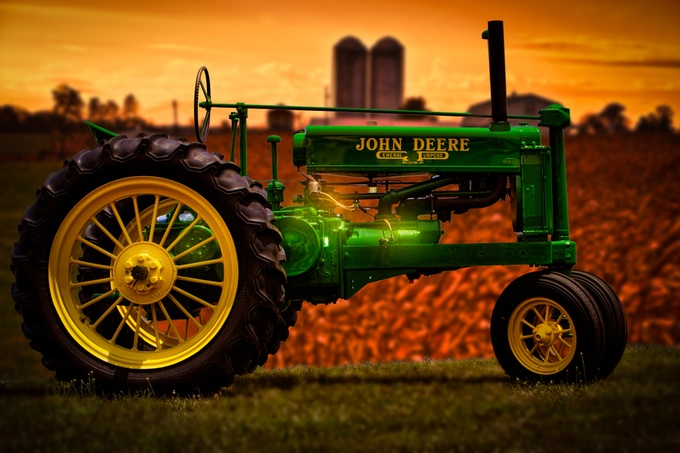 John Deere Tractor by genelinzy - Farming Photo Contest