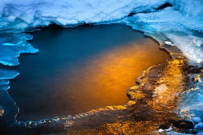 Golden Ice, Emerald Bay, Lake Tahoe, CA