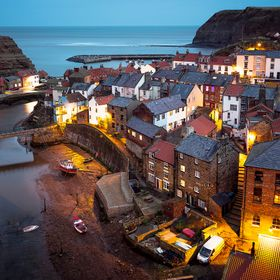 The beautiful view of Staithes, North Yorkshire, UK