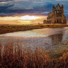 The gorgeous Whitby Abbey, Whitby, North Yorkshire, UK.