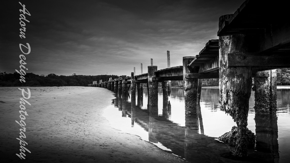 This old wharf has been rotting away like this for decades and is still standing....