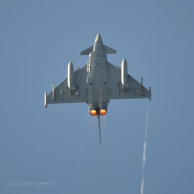 Austrian Typhoon going over the top !!!