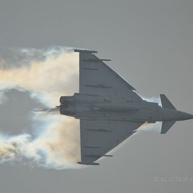 RAF Typhoon creating its own cloud !!!