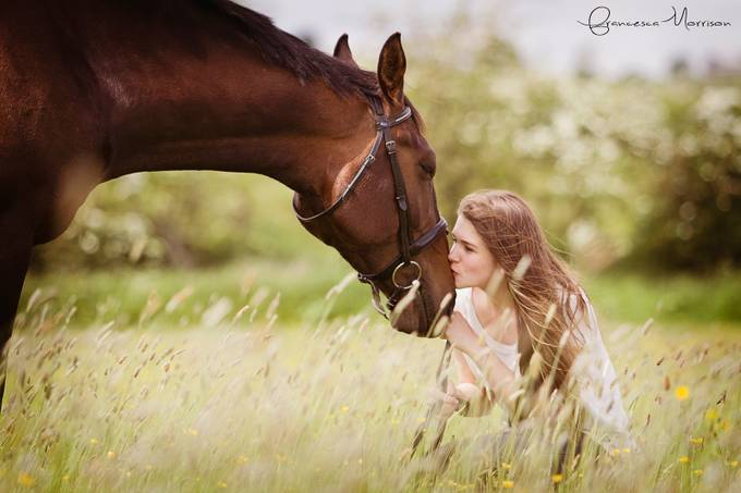 A girl and her friend by fmequine - I Heart Animals Photo Contest