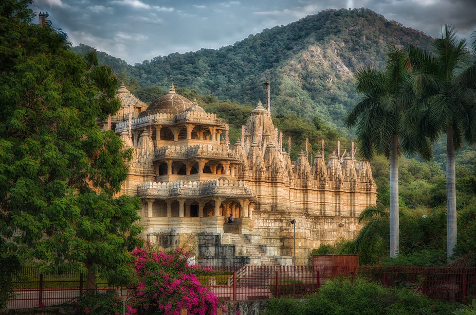 An immensely beautiful Jain temple in the mountains  between Jodhpur and Udaipur.