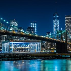 JANE'S CAROUSEL , BROOKLYN BRIDGE & DOWNTOWN