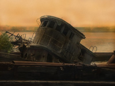 Tug Boats 1Oil Paint