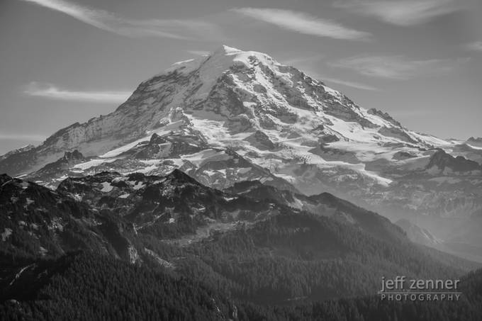 Mount Rainier by jeffzenner - Black And White Mountain Peaks Photo Contest