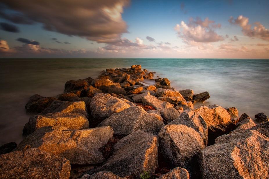 Sunset at Key Bizcayne, Florida