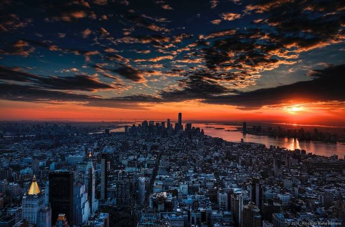 Sunset And The City by RiccardoMantero - City Sunsets Photo Contest
