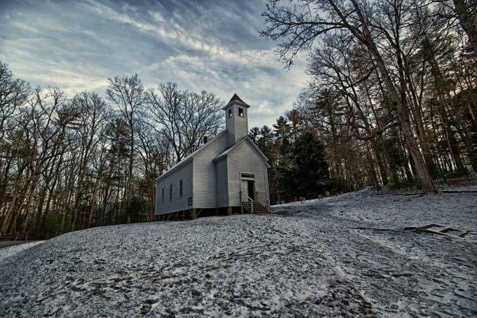 Cades Cove Church by chrisdemonbreun - Faith Photo Contest with Scott Jarvie