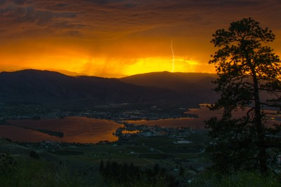 Osoyoos Sunset and Lightning
