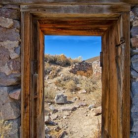 Bodie Ghost Town doorway