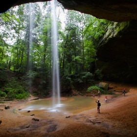 Ash Cave is one of the most popular sites at Hocking Hills State Park, near Logan, Ohio.  There was an unusual amount of water in Queer Creek on ...